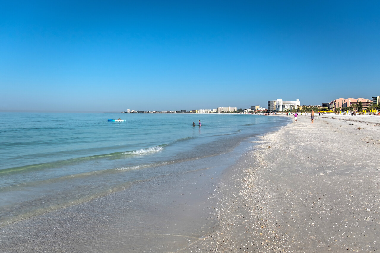 Crescent Beach on Siesta Key, Sarasota, Florida. Photo by Mary Carol Fitzgerald. Must Do Visitor Guides, MustDo.com