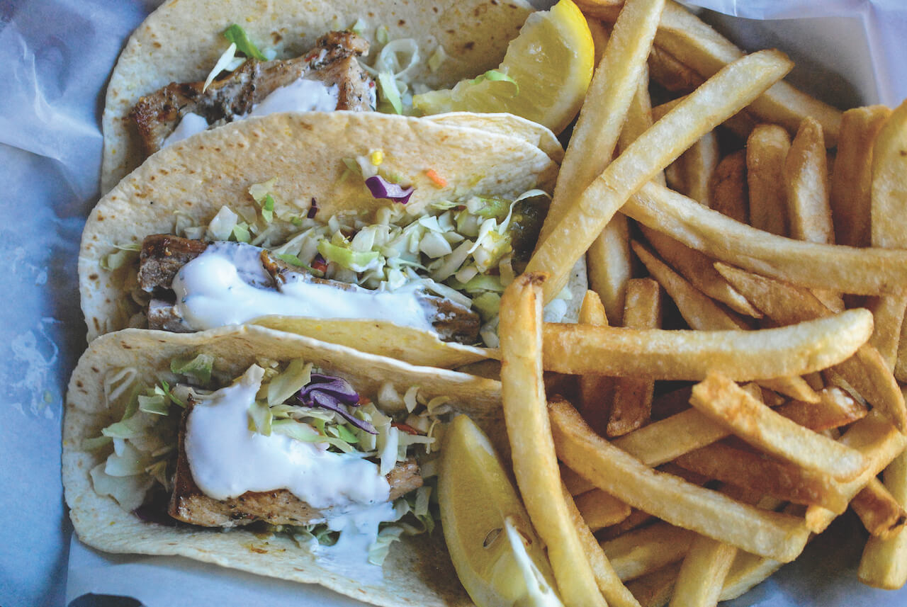 Fish Taco Sarasota Dining Scene. Photo by Larry Hoffman from dineSarasota. Must Do Visitor Guides, MustDo.com.