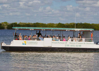Good Fortune II eco boat tours, Conservancy of Southwest Florida Naples, Florida.