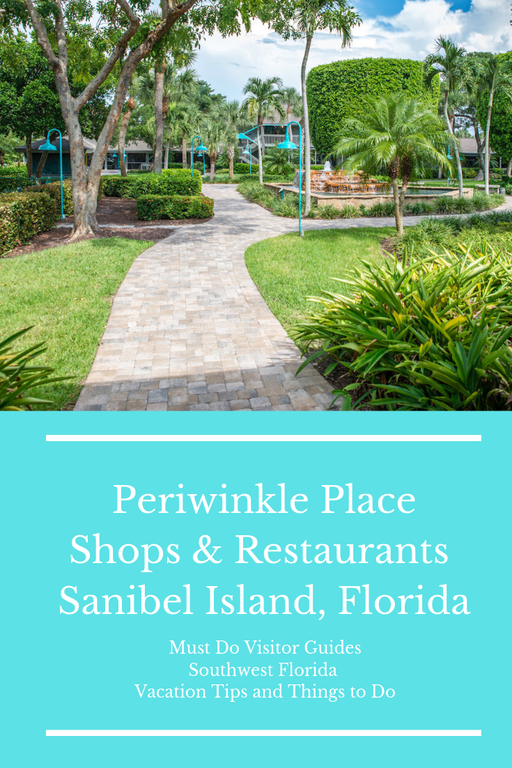 Periwinkle Place shopping center on Sanibel Island is far more than a strip mall; it is a delightful destination in its own right. You'll find a children's play area, beautiful tropical flowers in well-tended gardens, and shady seats overlooking cool fountains. Photo by Jennifer Brinkman. Must Do Visitor Guides, MustDo.com