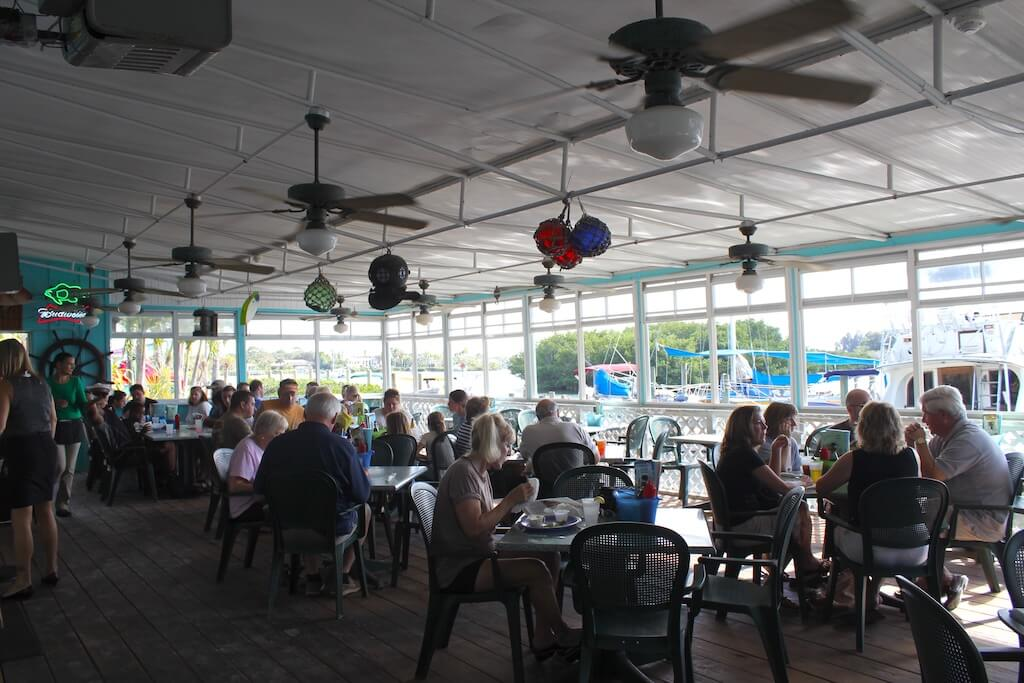 Casey Key Fish House Old Florida casual waterfront restaurant Osprey, Sarasota, Florida. Photo by Nita Ettinger | Must Do Visitor Guides, MustDo.com