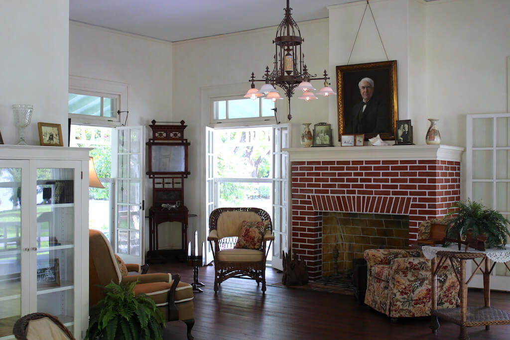 Inside the home tour at Edison and Ford Winter Estates Fort Myers, Florida USA. Must Do Visitor Guides, MustDo.com