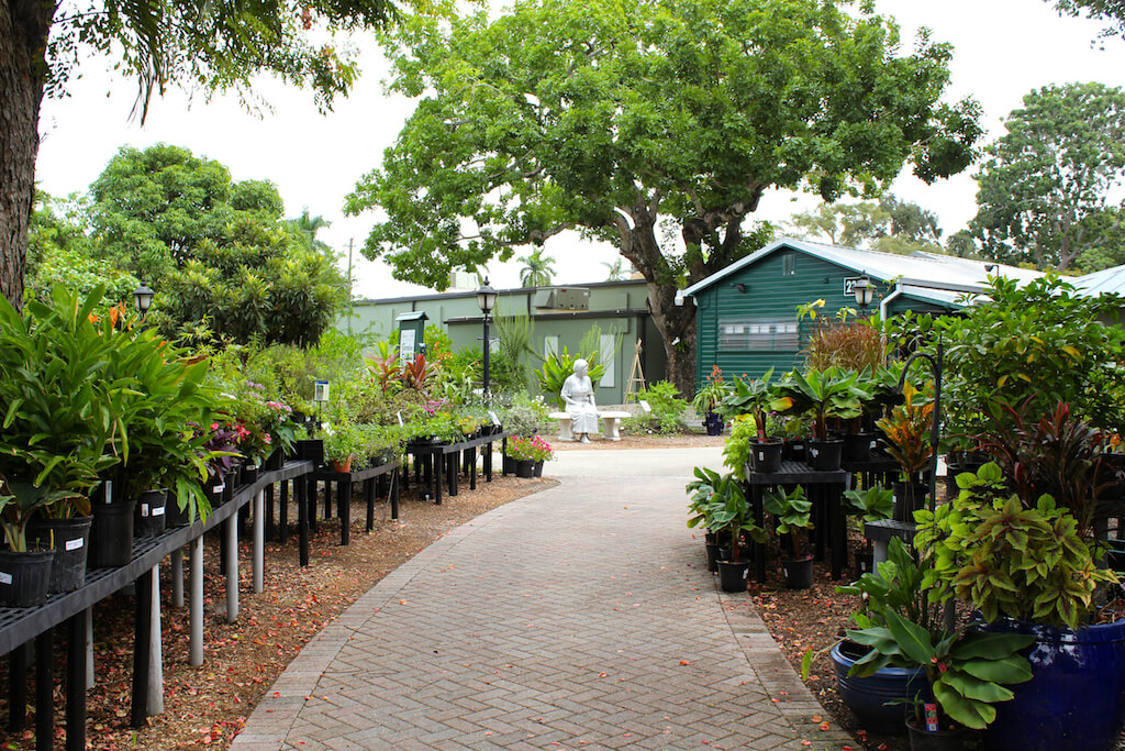 Garden shop at Edison and Ford Winter Estates Fort Myers, Florida USA. Must Do Visitor Guides, MustDo.com