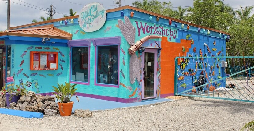 Wild Orchid Art Gallery. If you want to experience a colorful slice of small town Florida, be sure to add a day trip to Matlacha on your Naples, vacation itinerary. | Must Do Visitor Guides, MustDo.com