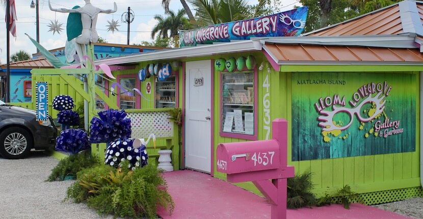 Leoma Lovegrove Art Gallery. If you want to experience a colorful slice of small town Florida, be sure to add a day trip to Matlacha on your Naples, vacation itinerary. | Must Do Visitor Guides, MustDo.com