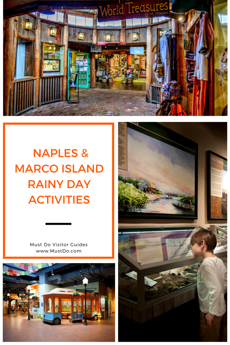 Top picks for what to do in Naples and Marco Island, Florida when the weather just won't cooperate with your family beach vacation plans. | Must Do Visitor Guides, MustDo.com