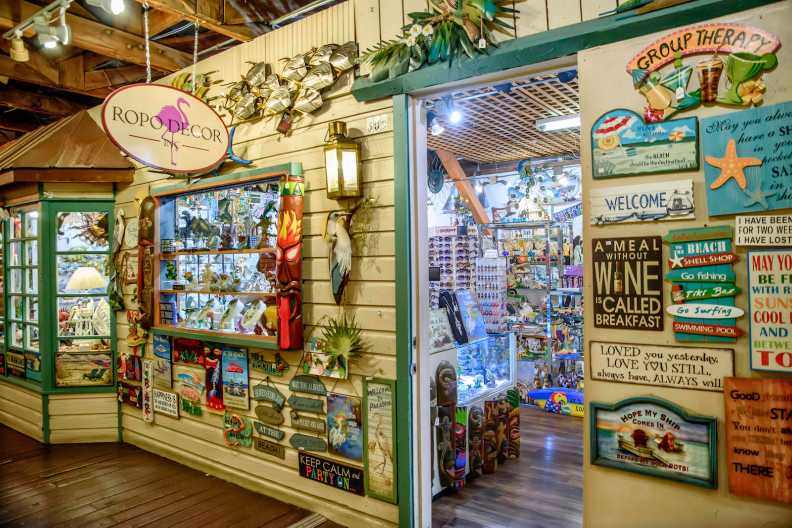 The converted fishing hub Tin City is a great stop on a rainy day. Walk through the maze of 30 shops, restaurants, and attractions. All the shops are locally owned and stock unique souvenirs and treasures. Photo by Jennifer Brinkman. | MustDo.com
