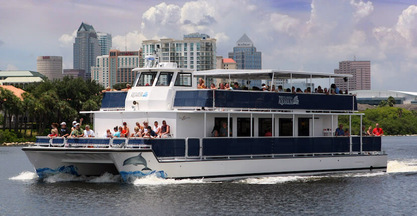 After exploring all of The Florida Aquarium's indoor exhibits, climb aboard the 72-foot Wild Dolphin Cruise catamaran for a 75- minute excursion around Tampa Bay to observe and learn about wild dolphins and seabirds in their natural habitat. |MustDo.com