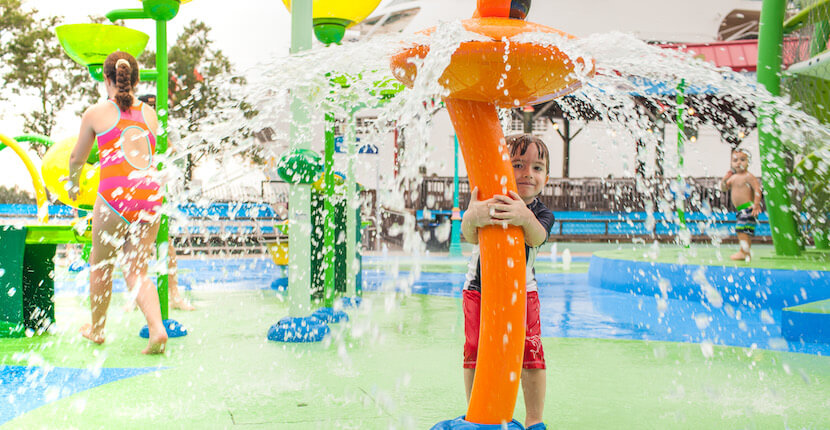 Beat the summer heat at The Florida Aquarium's outdoor water adventure zone, the Rainforest themed Splash Pad, where children can splash away while parents relax with views of Tampa Bay. | MustDo.com