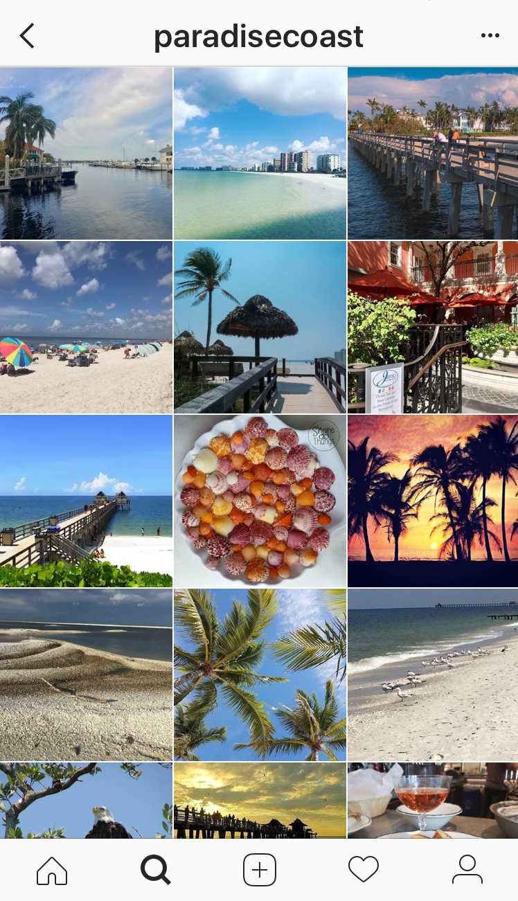 6 Naples, FL Instagram accounts you should follow: @paradisecoast Instagram shares user generated content of Southwest Florida's beautiful paradise coast. #naplesfl #florida #vacation #beaches