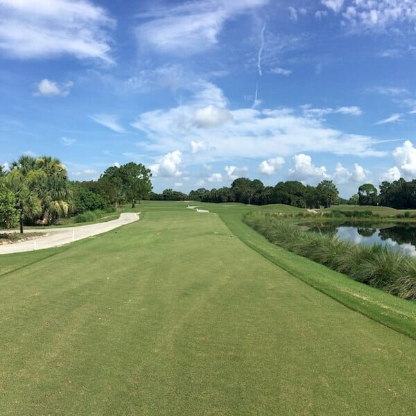 Copperhead Golf Club in Fort Myers is an 18-hole, par 72 golf course designed by Gordon G. Lewis features tightly cut fairways bordered by towering pine trees, demanding accuracy as well as distance. #golf #florida #publicgolfcourses