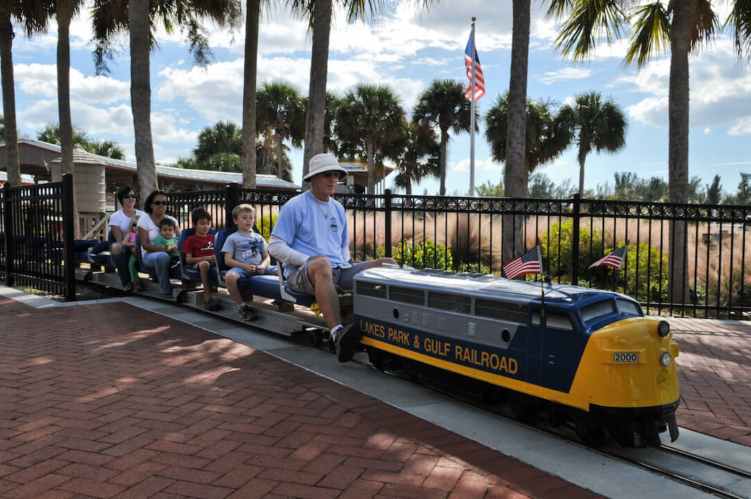 Lakes Regional Park in Fort Myers, Florida is home to the 3200ft² Railroad Museum of South Florida. It is filled with artifacts, photos, exhibits, and model railways. Photo by Gary Jung. #FortMyersFlorida #vacation #kidsactivities #thingstodo #trainride