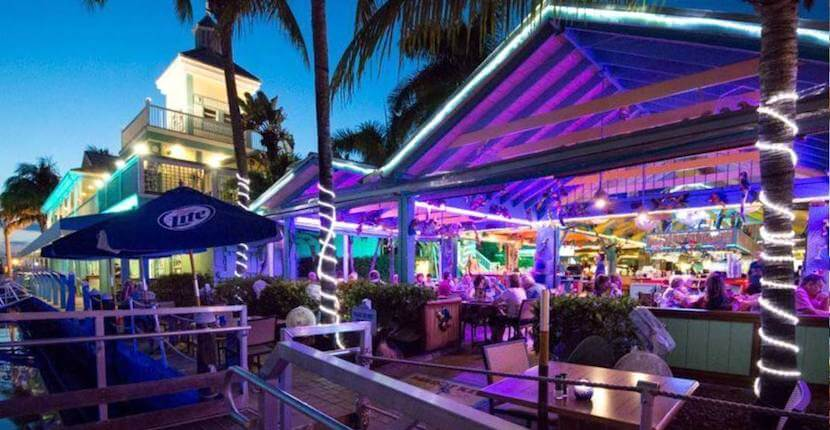 Enjoy award-winning Caribbean-inspired cuisine in a casual open-air Fort Myers Beach waterfront setting at Parrot Key Caribbean Grill. #Florida #vacation #restaurants #bars #FortMyersBeach