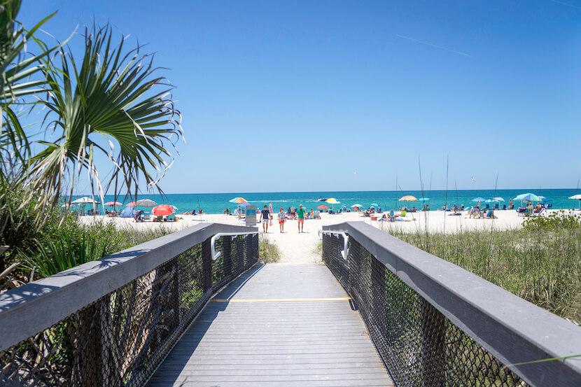 Boardwalk to Nokomis Beach. Photo credit Jennifer Brinkman #VeniceFlorida