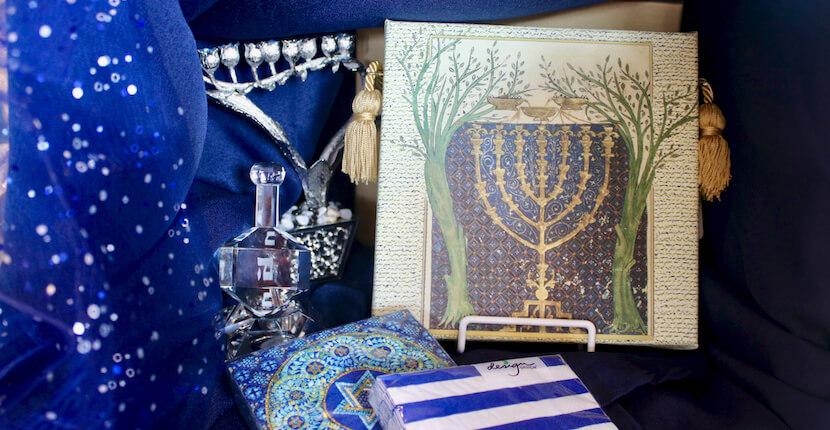 Hanukah napkins, menorah, decorations, Shelly's Gifts & Christmas Boutique Sarasota, Florida. Must Do Visitor Guides, MustDo.com.
