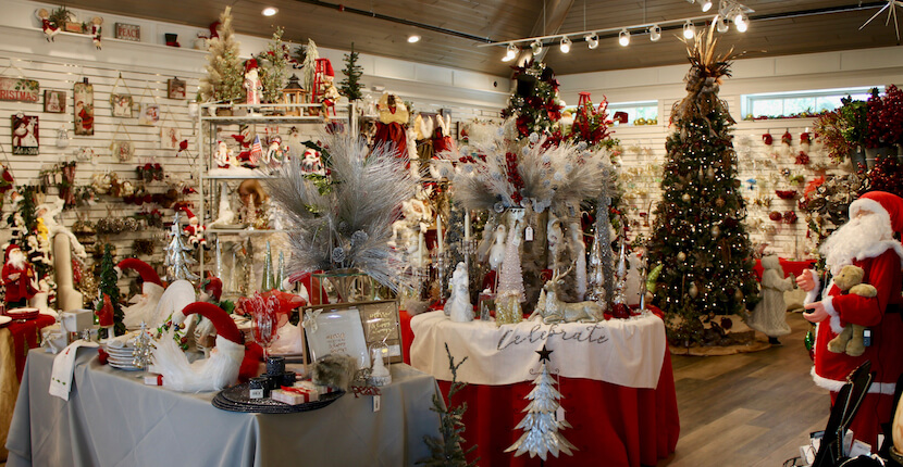 Year round selection of Christmas decor and gift items at Shelly's Gifts & Christmas Boutique Sarasota, Florida. Must Do Visitor Guides, MustDo.com.