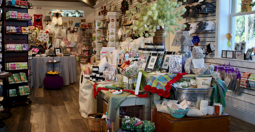 Holiday decor, hostess gifts Shelly's Gifts & Christmas Boutique Sarasota, Florida. Must Do Visitor Guides, MustDo.com.