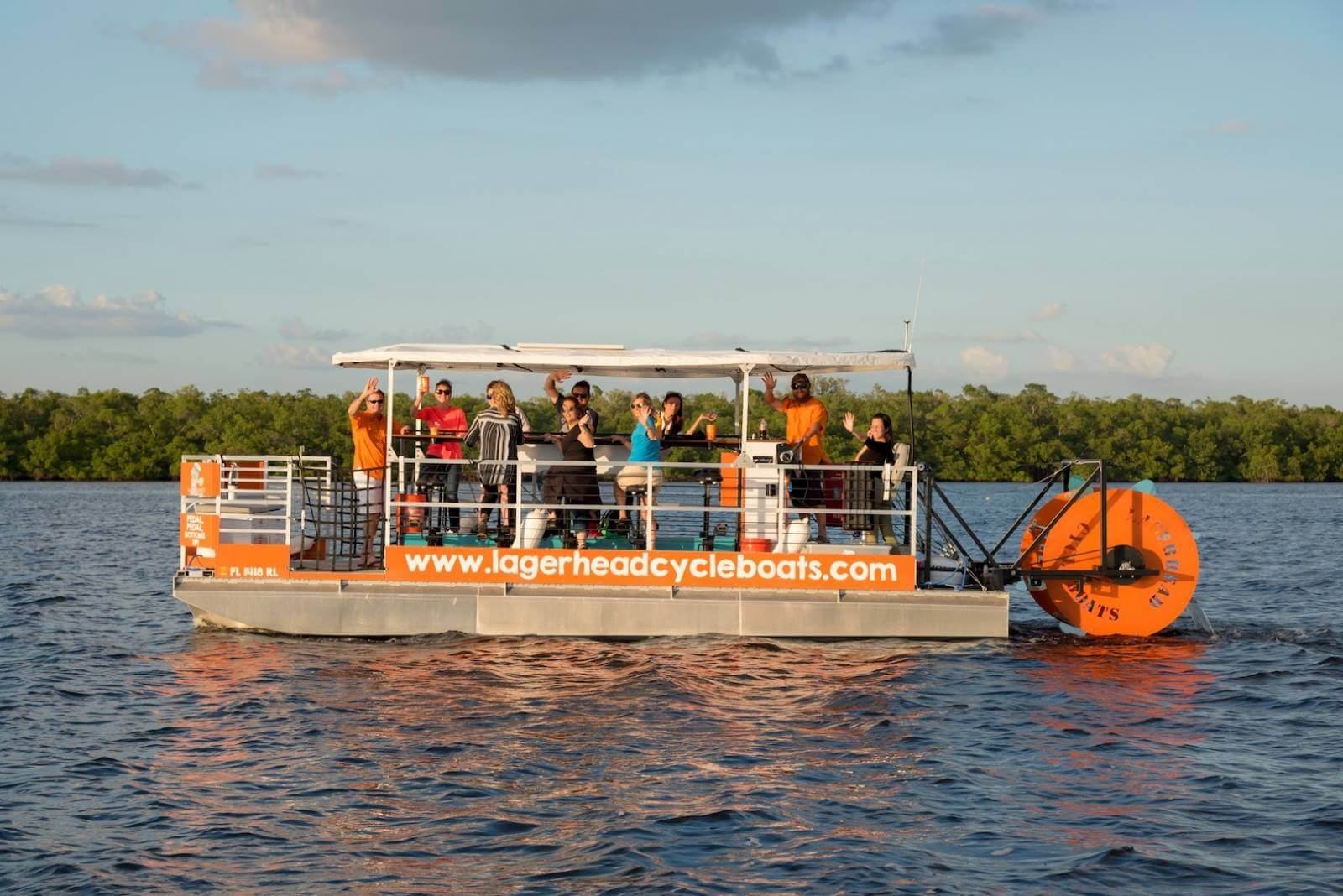 A fun pedal power cruise that includes a stop at a Fort Myers Beach bar/restaurant. Pedal at your own pace while your captain navigates the boat on this adventurous and unique tour.