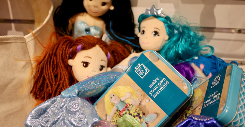 Mermaid doll making kit Shelly's Gifts & Christmas Boutique Sarasota, Florida. Must Do Visitor Guides, MustDo.com.