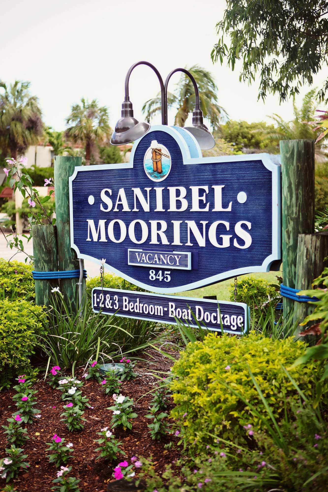 Sanibel Moorings beachfront resort and vacation rentals on Sanibel Island, Florida.