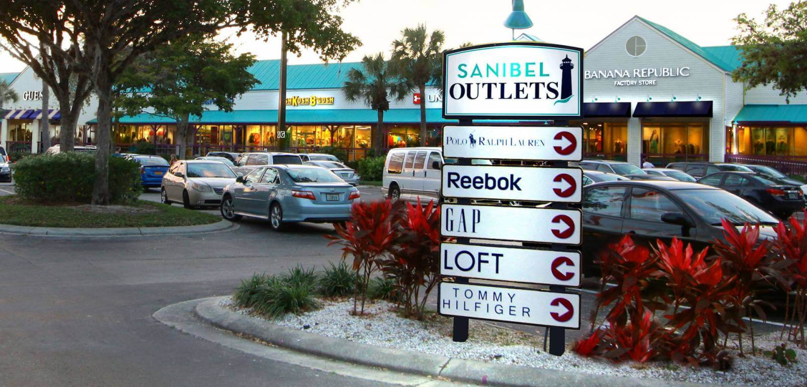 Shoppers will find plenty to tempt them at Sanibel Outlets which has over 40 specialty stores and restaurants. Must Do Visitor Guides, MustDo.com