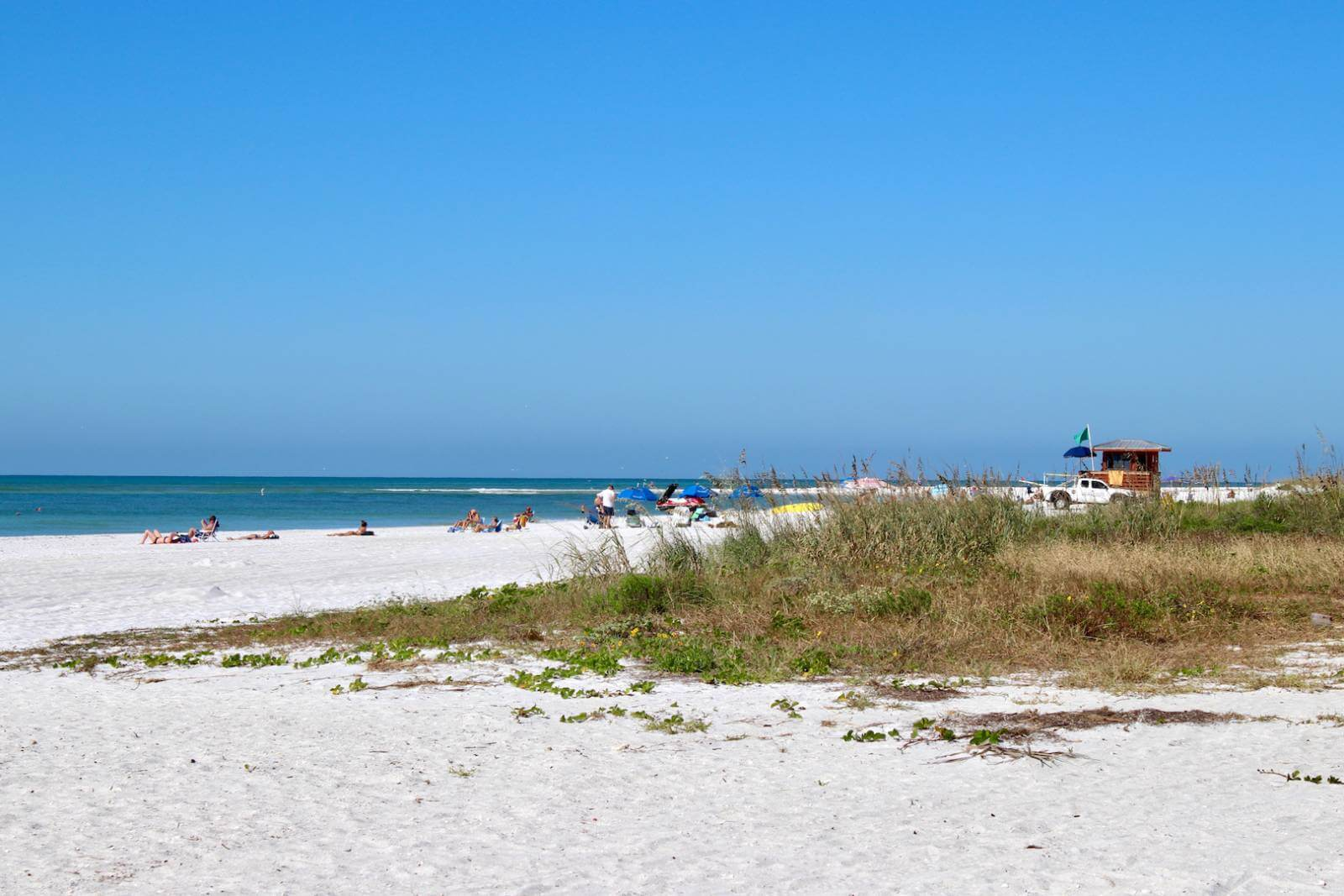 "Lido Beach in Sarasota, Florida. Lido Key was indirectly named by Sarasota resident John Ringling. A fan of Italian culture, he referred to the key's beach as a lido which means ""shore"" in Italian. The name Lido Key stuck."