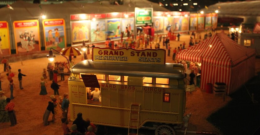 Miniature circus model at the Ringling Circus Museum Sarasota, Florida. Must Do Visitor Guides, MustDo.com.