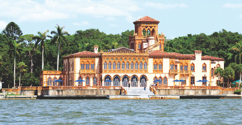 The Ringling Ca d'Zan historic waterfront mansion and museum in Sarasota, Florida. Must Do Visitor Guides, MustDo.com. Photo by Nita Ettinger