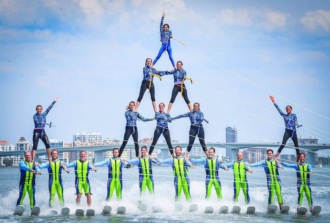 Ski-A-Rees have been performing free water-ski shows since 1957. See these world-class champions rehearse at their base on Lido Key.