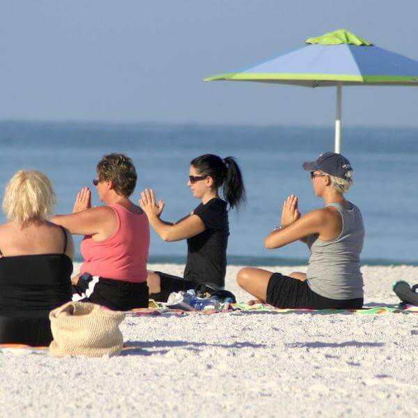 Take your workout beachside! Grab a towel or yoga mat and strike a pose within eyesight of the Gulf of Mexico. Classes suitable for all ages are offered on Siesta Beach, Turtle Beach, Lido Beach, Venice Beach, and Nokomis Beach. Must Do Visitor Guides, MustDo.com