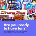 GameTime Fort Myers is a fun entertainment center located in Gulf Coast Town Center with sports bar, restaurant, simulators, mini bowling, and games for both kids and adults.