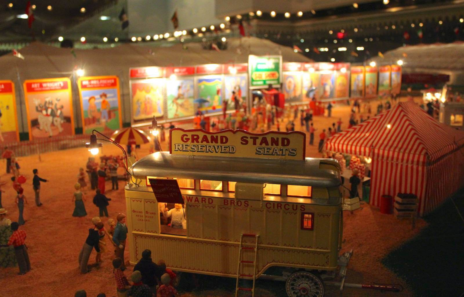 Circus lovers should check-out the Ringling Circus Museum with the world's largest miniature circus display including over 44,000 pieces. Photo by Nita Ettinger. Must Do Visitor Guides, MustDo.com.