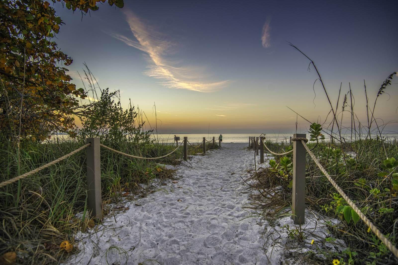 Pathway in the sand to a Sanibel beach sunset near Fort Myers, Florida. Photo by Jennifer Brinkman. Must Do Visitor Guides, MustDo.com