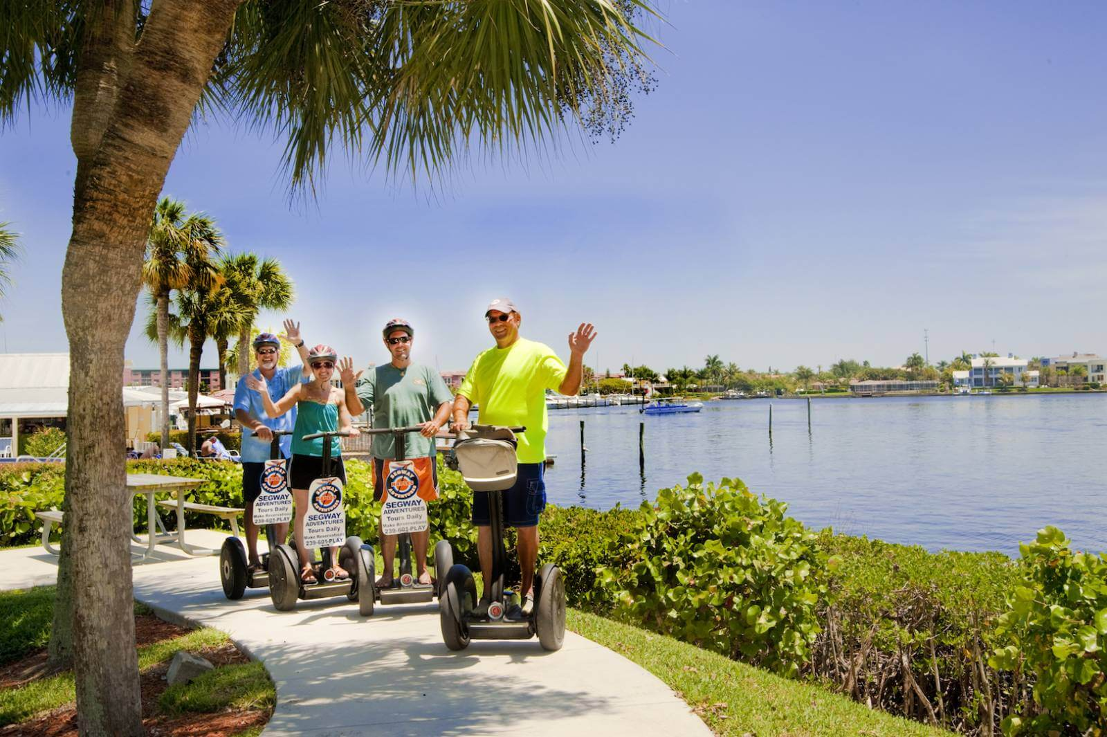 What's a Fun Way to Tour Naples, Florida? On a Segway tour with Extreme Family Fun Spot's Segway Gliding Adventures' narrated tour! Must Do Visitor Guides, MustDo.com.
