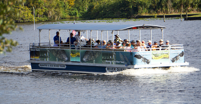 Caloosahatchee River Manatee and Eco River-Tours' boat Fort Myers, Florida.