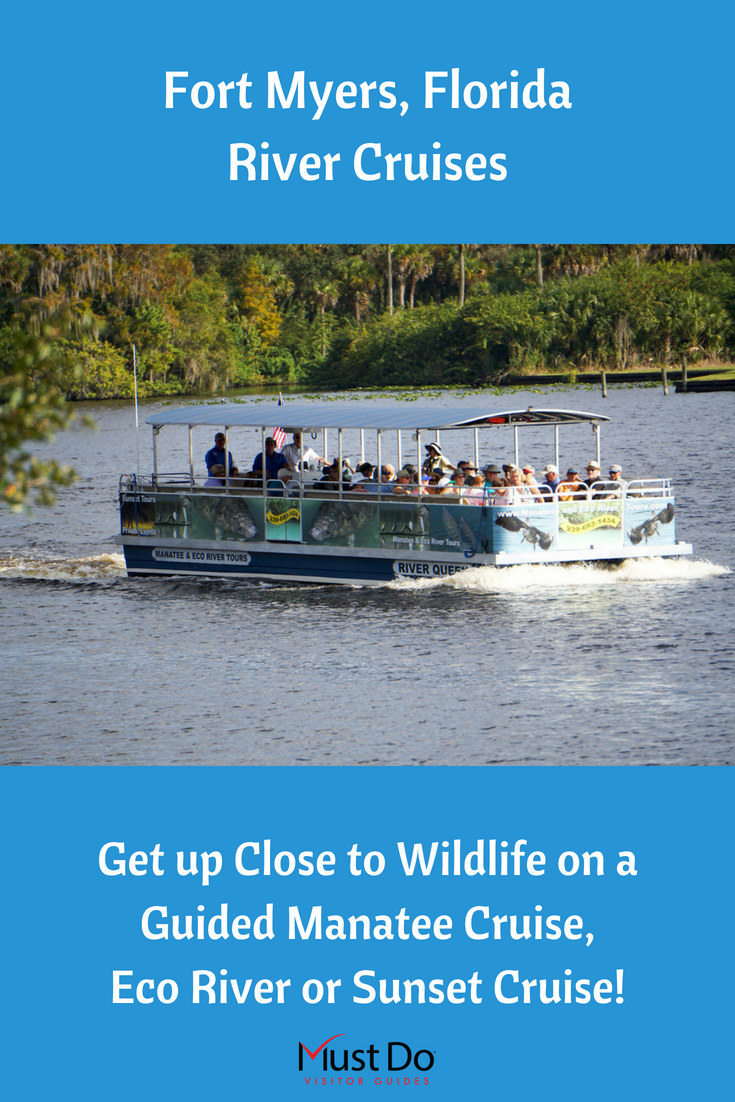 Get up close to wildlife on a guided Manatee Cruise, Eco River Cruise, or Sunset Cruise in Fort Myers, Florida. Must Do Visitor Guides.