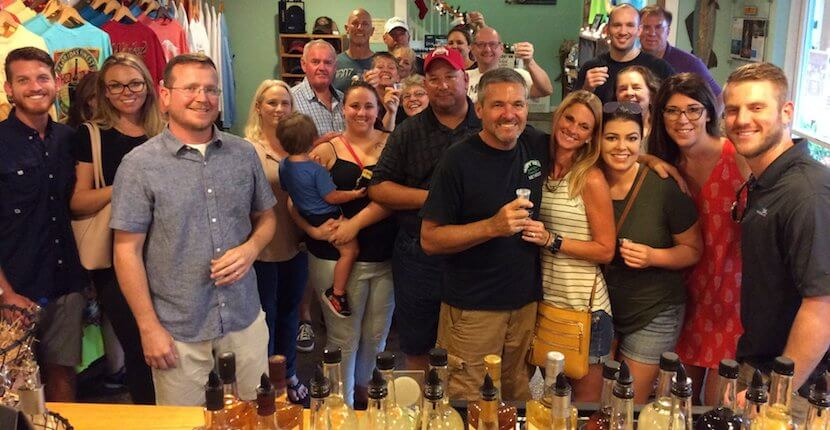 Craft rum tasting. Free distillery tours and tastings of award-winning Wicked Dolphin Rum where you'll learn how they cook, ferment, and distill their reserve and signature rums. Cape Coral, Florida. Must Do Visitor Guides, MustDo.com.