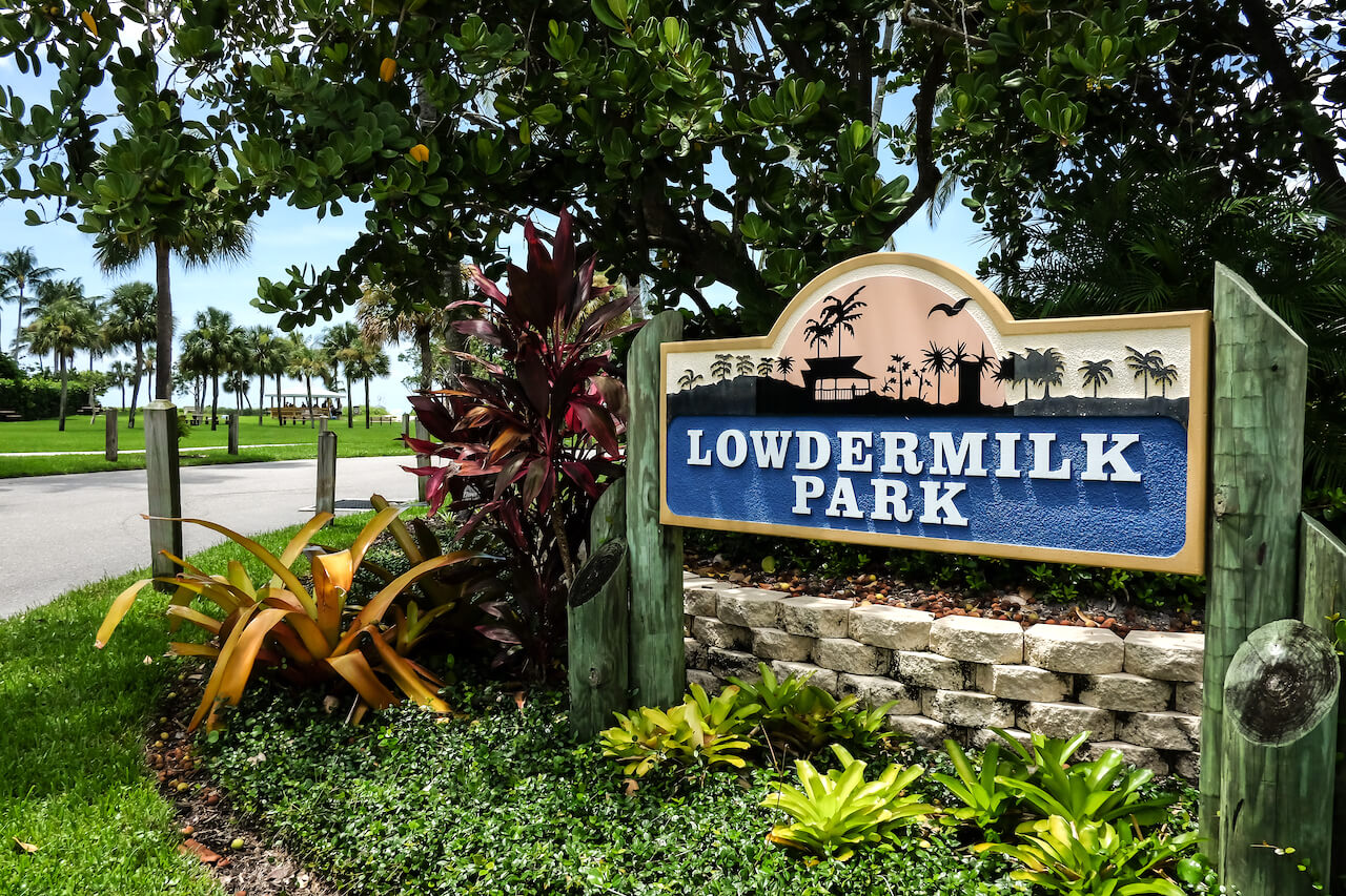 Entrance to Lowdermilk Park and beach in Naples, Florida. Photo by Mary Carol Fitzgerald. Must Do Visitor Guides, MustDo.com
