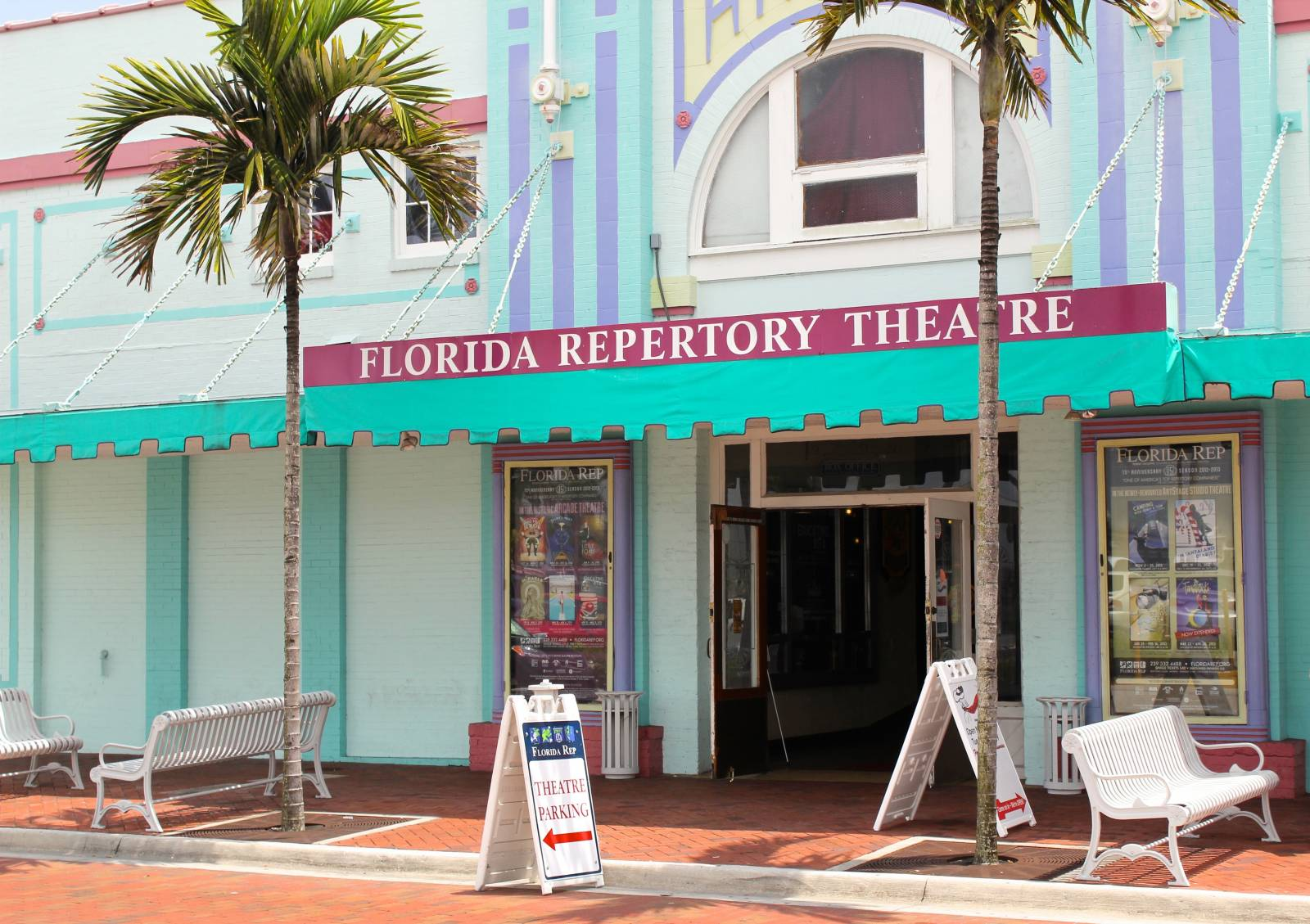 Florida Repertory Theatre in downtown Fort Myers is one of the top repertory theaters in the USA, this renovated gem has a full program including comedy and drama. Must Do Visitor Guides | MustDo.com. Photo by Nita Ettinger