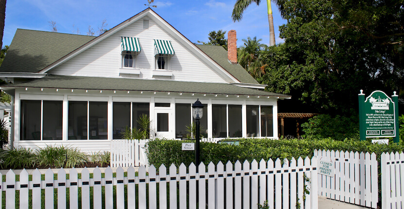 Take a self-guided tour of five historic gardens that are a beautiful complement to Naples Florida's oldest house, Historic Palm Cottage. Photo by Nita Ettinger. Must Do Visitor Guides | MustDo.com