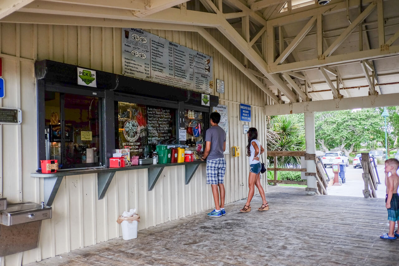 Lowdermilk Beach Park concessions Naples, Florida. Photo by Mary Carol Fitzgerald. Must Do Visitor Guides, MustDo.com
