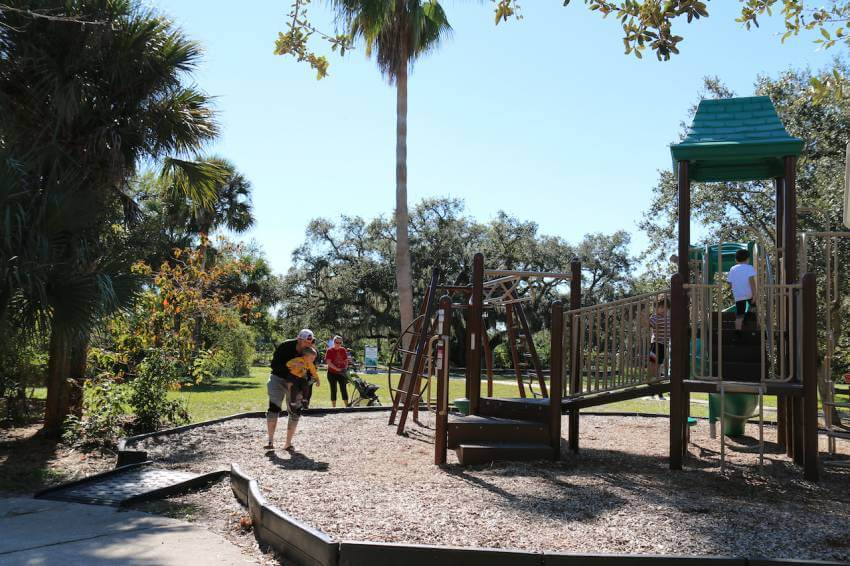Children's playground, plus See manatees in the wild at Manatee Park in Fort Myers, Florida. Photo by Lauren Ettinger. Must Do Visitor Guides | MustDo.com