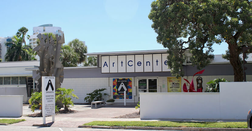 Art Center Sarasota in Sarasota, Florida is a community art center with exhibition galleries, a sculpture garden, adult and kids art classes, programs, and workshops. Must Do Visitor Guides | MustDo.com. Photo by Nita Ettinger