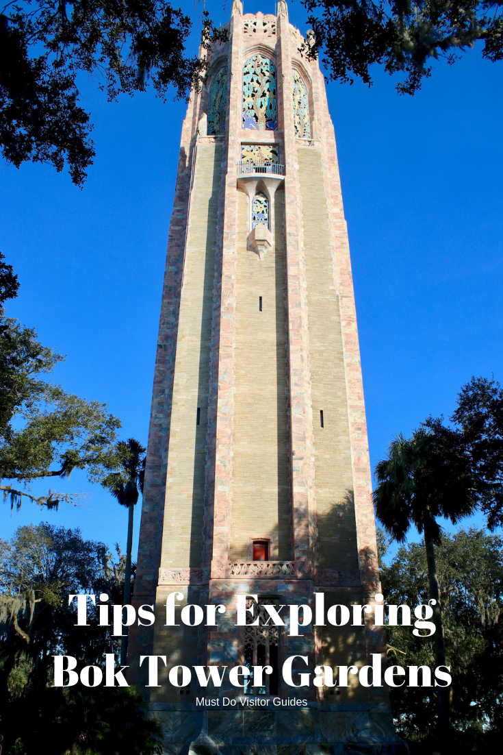 Tips for Exploring Bok Tower Gardens. Explore 50 acres of meandering pathways and gardens, listen to the beautiful bells of the Singing Tower carillon, and stroll through a Mediterranean-style mansion at Bok Tower Gardens Lake Wales, Florida. Must Do Visitor Guides | MustDo.com
