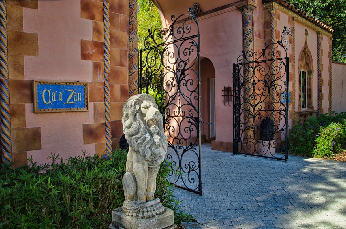 Entrance to The Ringling Ca' d'Zan Mansion Sarasota, Florida. Photo by Jennifer Brinkman. Must Do Visitor Guides | MustDo.com