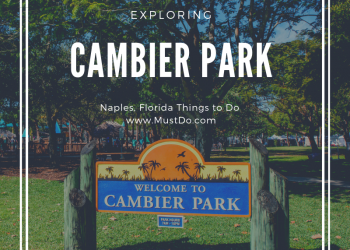 Exploring Cambier Park in Naples, Florida. The 12-acre park is the hub of the Naples community with various festivals, tennis courts, a children's playground, and popular Band Shell for free concerts and movies. Photo credit Jennifer Brinkman. Must Do Visitor Guides | MustDo.com.