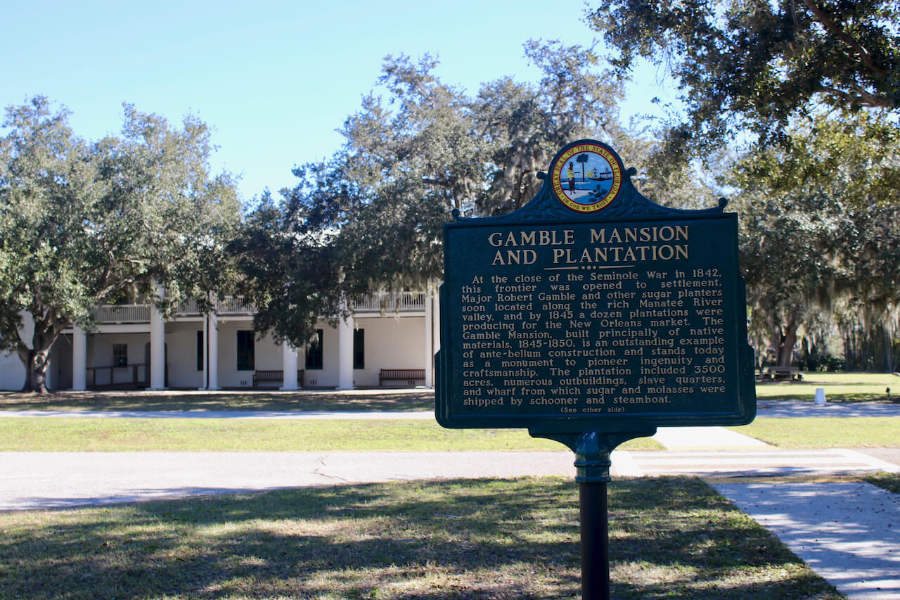 The Gamble Plantation in Ellenton is an easy day trip from Sarasota, Florida. The antebellum mansion is the only surviving plantation home in South Florida and was once the headquarters of an extensive sugar plantation. Must Do Visitor Guides | MustDo.com. Photo by Nita Ettinger