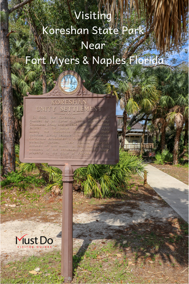 Tips for visiting Koreshan State Park near Fort Myers and Naples Florida. Must Do Visitor Guides | MustDo.com