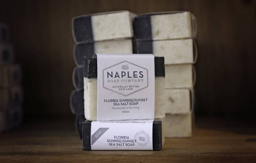 Naples Soap Company products for those with skin issues (and those who just want to use natural products on their skin) include Sea Salt Soaps to detoxify and deep-cleanse the pores. They are ideal for those with acne. The Sea Salt Scrub gives the whole body an invigorating exfoliation to improve blood flow and remove dead cells. Must Do Visitor Guides | MustDo.com