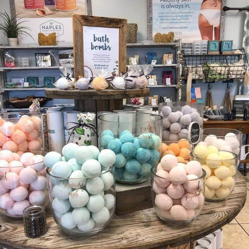 Naples Soap Company bath bombs. Must Do Visitor Guides | MustDo.com